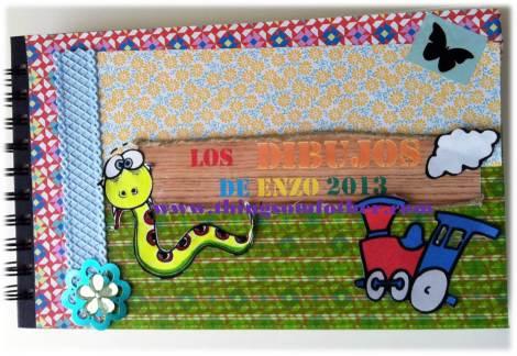 libro de dibujos de Enzo